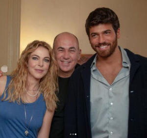 Claudia Gerini, Ferzan Ozpetek e Can Yaman