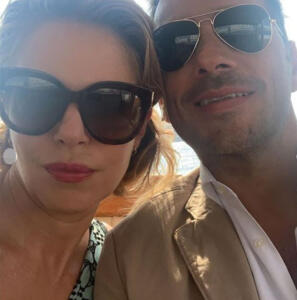 Claudia Gerini e Simon Clementi