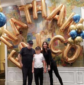 Flavio Briatore, Elisabetta Gregoraci e Nathan Falco