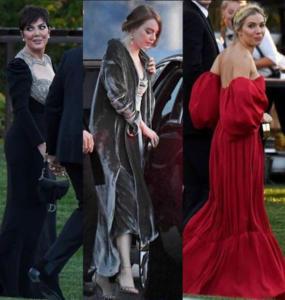 Kris Jenner, Emma Stone e Sienna Miller