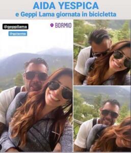 Aida Yespica e Geppy Lama