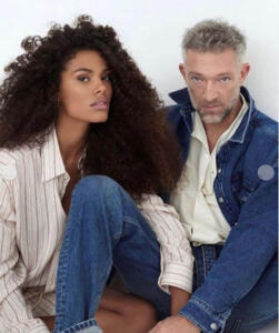 Tina Kunakey e Vincent Cassel