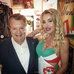 Vittorio Cecchi Gori e Valeria Marini