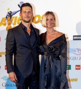 Federica Pellegrini e Matteo Giunta