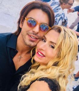 Gianluigi Martino e Valeria Marini