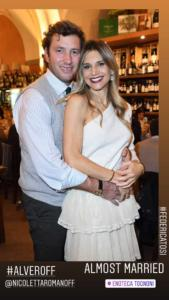 Nicoletta Romanoff e Fedrico Alverà