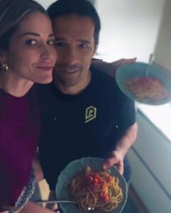 Elena Santarelli e Bernardo Corradi