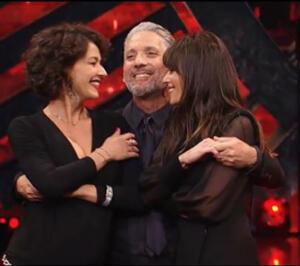 Nicole Grimaudo, Beppe Fiorello e Claudia Pandolfi