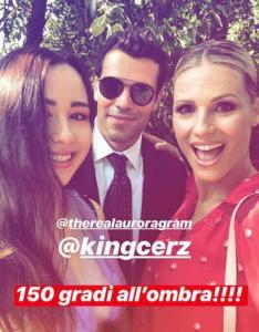 Aurora Ramazzotti, Goffredo Cerza e Michelle Hunziker